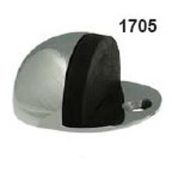 OVAL FLOOR MOUNTED DOOR STOP SATIN ANODISED ALUMINIUM 1705