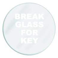 SPARE GLASS FOR EMERGENCY KEY BOX
