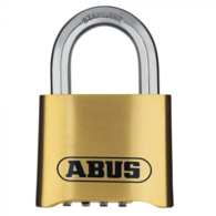 ABUS 180IB BRASS COMBINATION PADLOCK STAINLESS SHACKLE