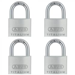 ABUS 64TI/40 TITALIUM QUAD PACK OPEN SHACKLE PADLOCKS