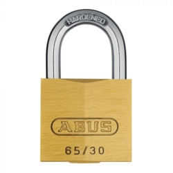 ABUS 65/30 BRASS OPEN SHACKLE PADLOCK