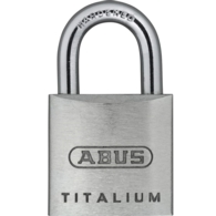 ABUS 64TI/20 TITALIUM OPEN SHACKLE PADLOCK