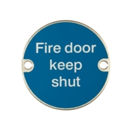 FIRE DOOR KEEP SHUT 75mm SIGN SSS