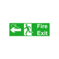 UNIVERSAL REVERSIBLE RUNNING MAN FIRE EXIT SIGN 440 x 150mm