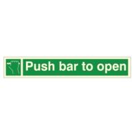 PUSH BAR TO OPEN SIGN PVC 600X100