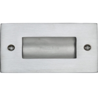 FLUSH PULL HANDLE 100mm SATIN CHROME C1820-4-SC