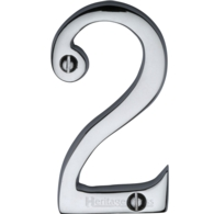 """FACE FIX NUMERAL """"2"""" 76mm 3"""" POLISHED CHROME C1561-2PC"""