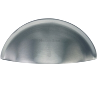 HALF MOON DRAWER PULL SATIN CHROME C2760-SC