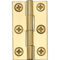 "CABINET HINGE NATURAL BRASS 1 1/2"" x 7/8"" HG99-110-NB"