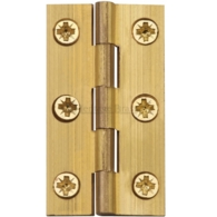"HERITAGE BRASS HINGE 2 1/2"" X 1 3/8"" NATURAL BRASS FINISH"