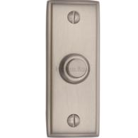 HERITAGE BRASS OBLONG BELL PUSH SATIN NICKEL V1180-SN