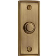 HERITAGE BRASS OBLONG BELL PUSH ANTIQUE BRASS V1180-AT