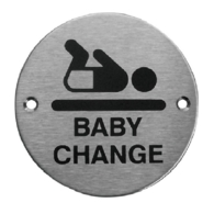 BABY CHANGE SIGN 75mm SSS
