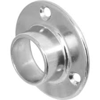 DELUXE END SOCKET 25mm POLISHED CHROME PAIR