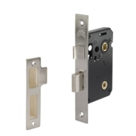 "MORTICE BATHROOM LOCK SATIN CHROME 2.5"" / 64mm"