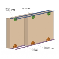CELLO SLIDING DOOR KIT 25Kg FOR WARDROBE AND CUPBOARD