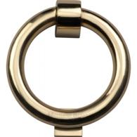 RING DOOR KNOCKER POLISHED BRASS K1270-PB