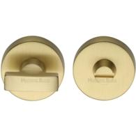 ROUND TURN & RELEASE SATIN BRASS 35mm V1018-SB
