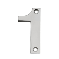 75mm NUMERAL 1 POLISHED STAINLESS STEEL