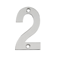 75mm NUMERAL 2 POLISHED STAINLESS STEEL