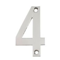 75mm NUMERAL 4 POLISHED STAINLESS STEEL