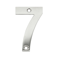 75mm NUMERAL 7 POLISHED STAINLESS STEEL