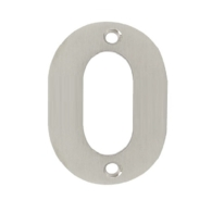 75mm NUMERAL 0 SATIN STAINLESS STEEL