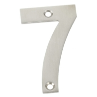75mm NUMERAL 7 SATIN STAINLESS STEEL