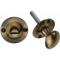 OVAL BATHROOM TURN & RELEASE ANTIQUE BRASS BT15-AT