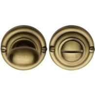 BATHROOM TURN & RELEASE ANTIQUE BRASS V1015-AT