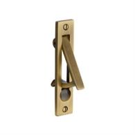 POCKET DOOR EDGE PULL ANTIQUE BRASS C1165-AT