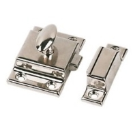 POLISHED CHROME CUPBOARD CATCH 55mm CA57L