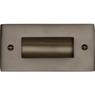 FLUSH PULL HANDLE 100mm MATT BRONZE C1820-4-MB