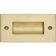 FLUSH PULL HANDLE 100mm SATIN BRASS C1820-4-SB