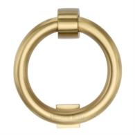 K1270 SB RING DOOR KNOCKER SATIN BRASS