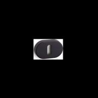 ORNO STANDARD OVAL KEYHOLE ESCUTCHEON PAIR BLACK