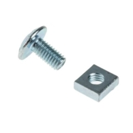 ROOFING BOLT AND NUT M6 X 20